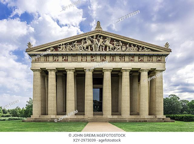 The Parthenon is the centerpiece of Centennial Park, Nashville, Tennessee, USA