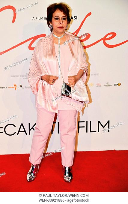 'Cake' World Premiere at London's West End in Leicester Square - Arrivals Featuring: BEO RAANA ZAFAR Where: London, United Kingdom When: 13 Mar 2018 Credit:...