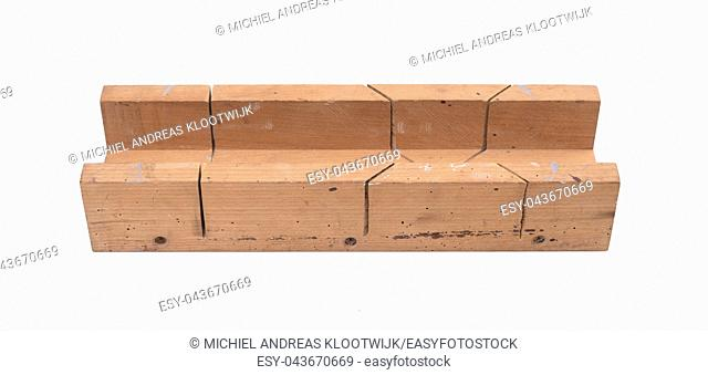 Miter box, isolated on a white background