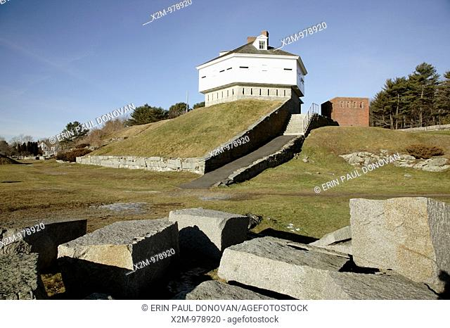 Fort McClary, which is an old fort during the winter months  Located in Kittery, Maine USA, which is part of the New England seacoast  This fort was named after...