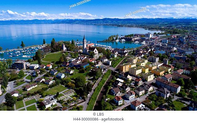 Luftaufnahme der Stadt Romanshorn