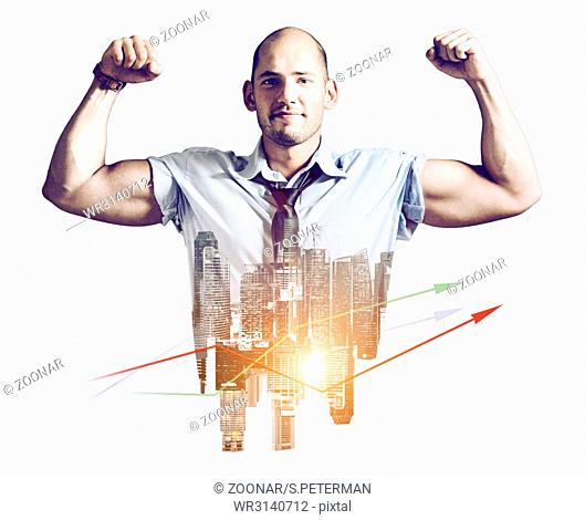 Strong businessman concept