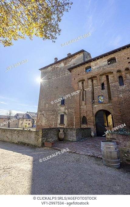 Cozzo, Province of Pavia, Lombardy, Italy. The Old Castle of Cozzo
