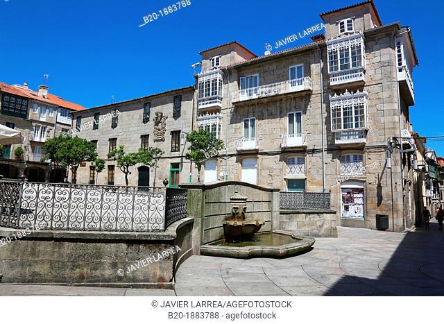 Plaza do Teucro, Pontevedra, Galicia, Spain