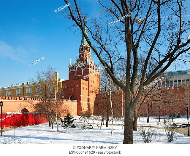 The tower of Moscow Kremlin. Russia