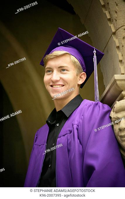 young male graduate