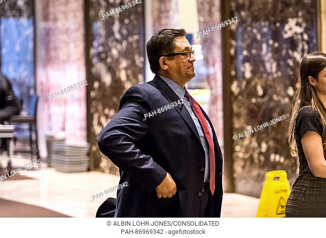 Michigan State University Professor Dr. Josef Guzman is seen in the lobby of Trump Tower in New York (USA) on January 3, 2017