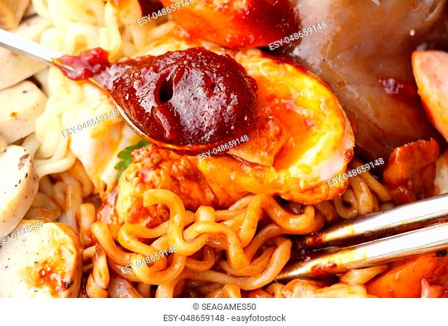 Ramyeon, Korean instant noodle with gochujang delicious