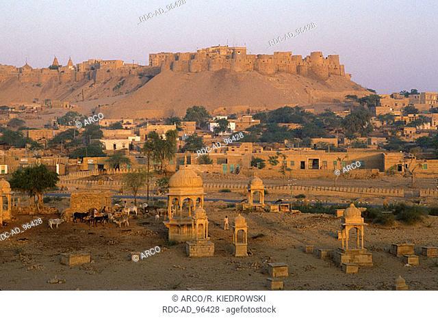 View on Jaisalmer Rajasthan India