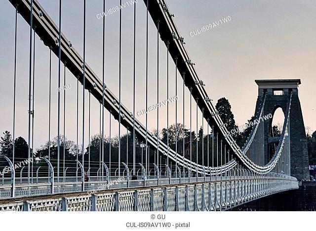 Clifton suspension bridge over river Avon, Bristol, UK
