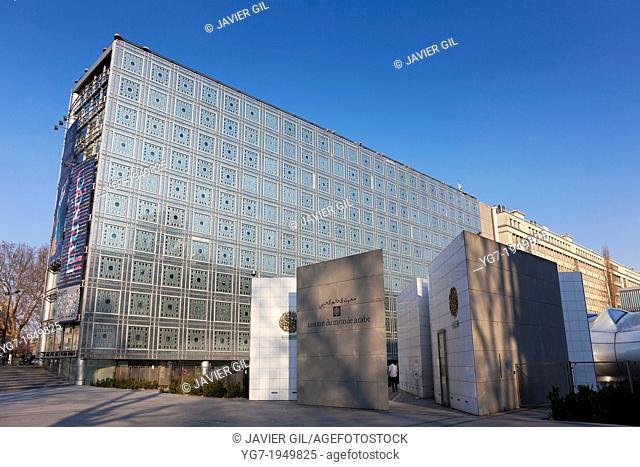Institut du monde arab, quartier latin, Paris, Ile de France, France