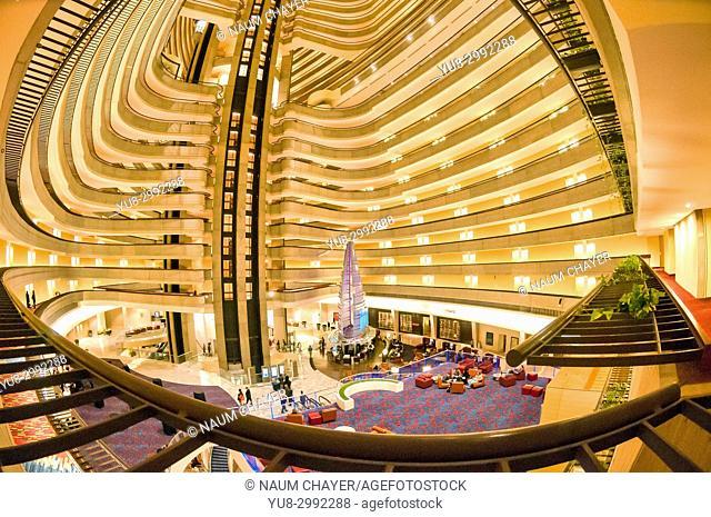 Inside Marriott Hotel ,Atlanta ,capital of Georgia, USA