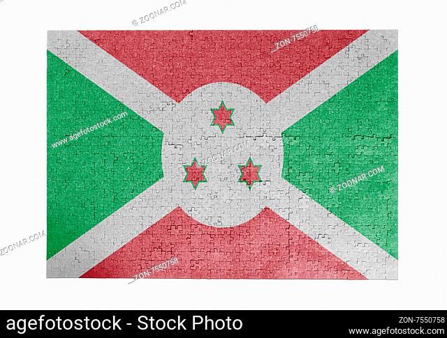 Large jigsaw puzzle of 1000 pieces - flag - Burundi