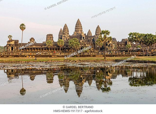 Cambodia, Siem Reap Province, Angkor temple complex, site listed as World Heritage by UNESCO, Angkor Wat