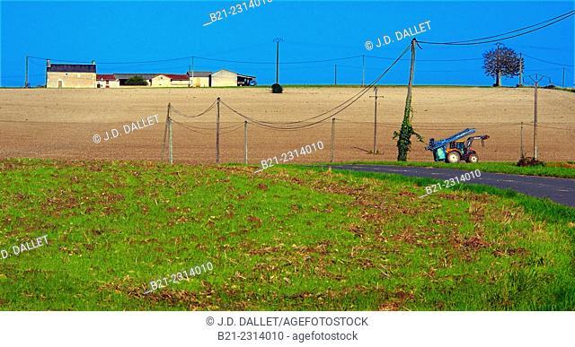 Landscape near Lencloître, Vienne, Poitou-Charentes, France