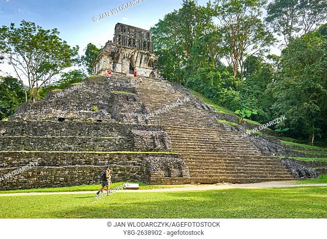 Temple of the Cross, ancient Mayan city of Palenque, Chiapas, Mexico