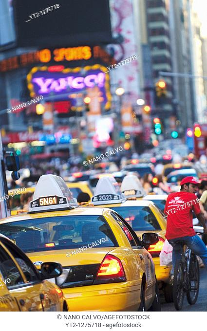 Life & Lights in Times Square, New York City, New York State, USA
