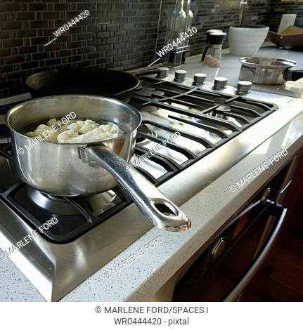 Cauliflower Cooking on the Stove