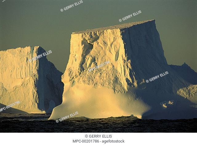 Broken tabular icebergs, Antarctic Peninsula, Antarctica
