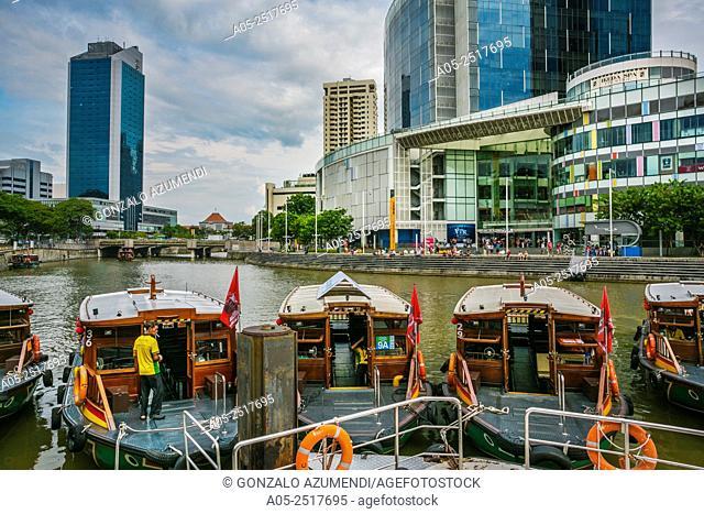Clarke Quay. Singapore City Skyline. Singapore. Asia