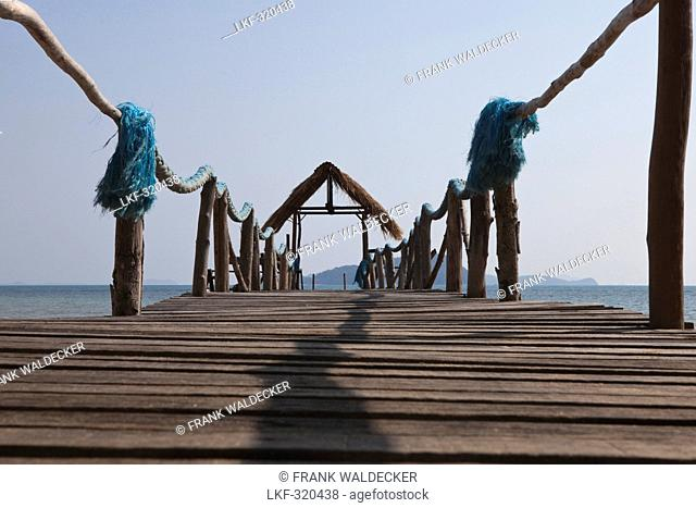 Jetty at the westcoast of Koh Chang Island, Trat Province, Thailand, Asia