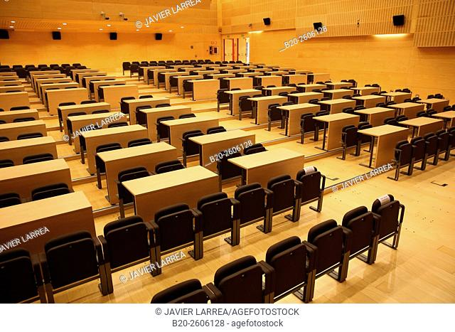 Auditorium. Conference hall. Ficoba, Basque Coast International Fair. Irun. Gipuzkoa. Basque Country. Spain