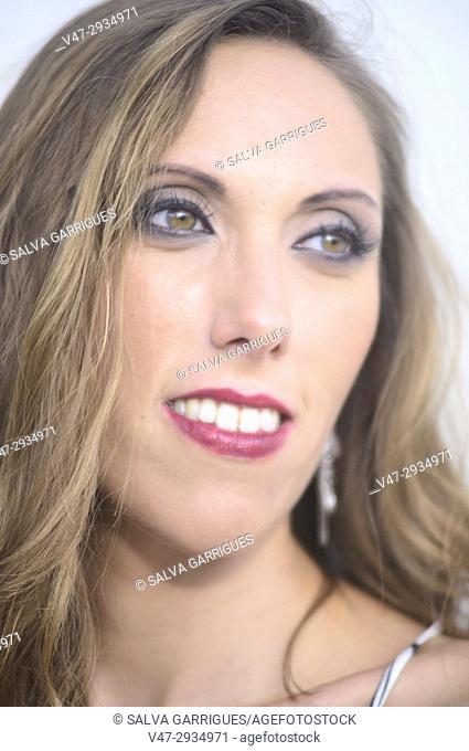 Portrait of a smiling woman, Valencia, Spain