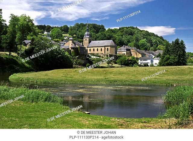 The village Chassepierre along the river Semois near Florenville, Ardennes, Belgium