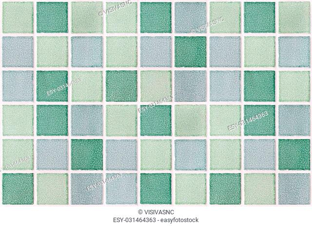 mosaic marble tiles green square