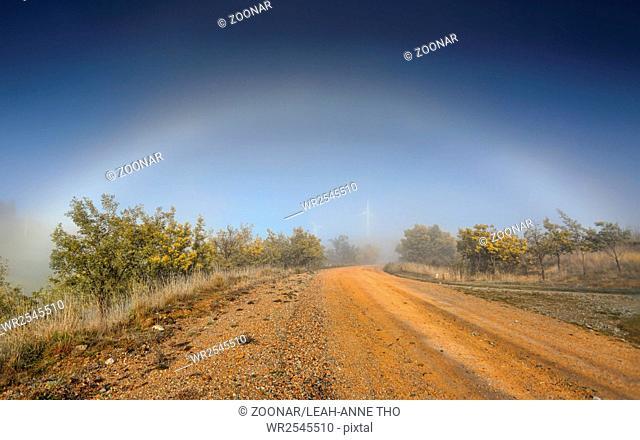 Fog Bow nature phenomenon in outback Australia