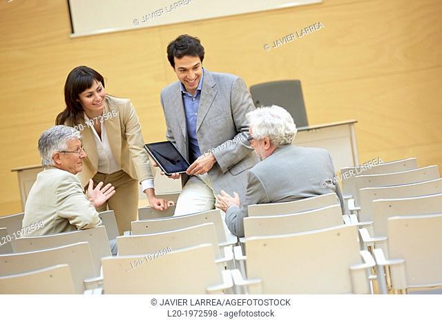 Executives at Convention Centre, Coaching, Business, Donostia, San Sebastian, Basque Country, Spain