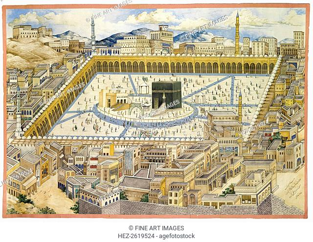 View of the Ka'aba and surrounding buildings in Mecca, Second Half of the 19th cen. Artist: Mahmud (?-1893/4)