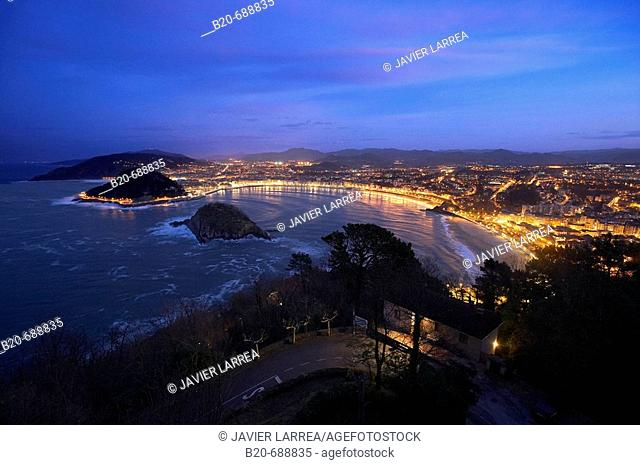 La Concha bay, San Sebastian. Guipuzcoa, Euskadi, Spain