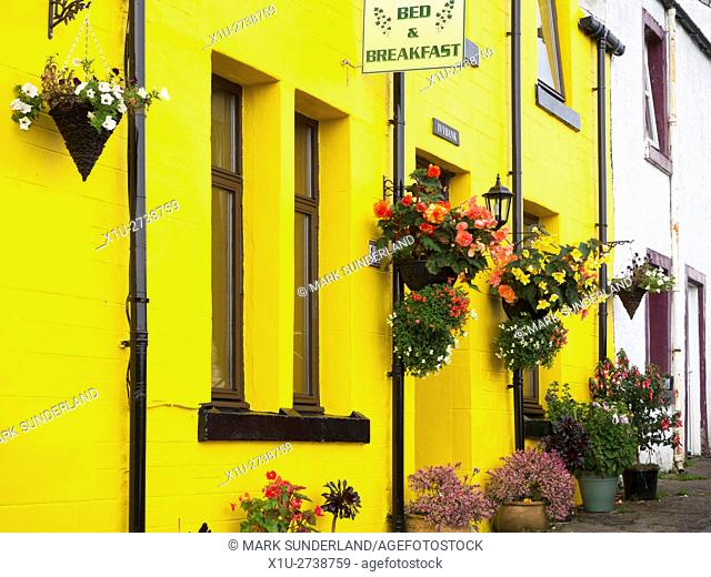 Colourful Bed and Breakfast on Argyll Terrace in Tobermory Isle of Mull Argyll and Bute Scotland