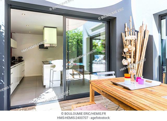 France, Gironde, Le Bouscat, report: Lanet House (interior architect and designer Marie Labat / SoulSens Agency)