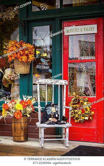 The front entrance to a gift shop in Wakefield, Quebec, Canada