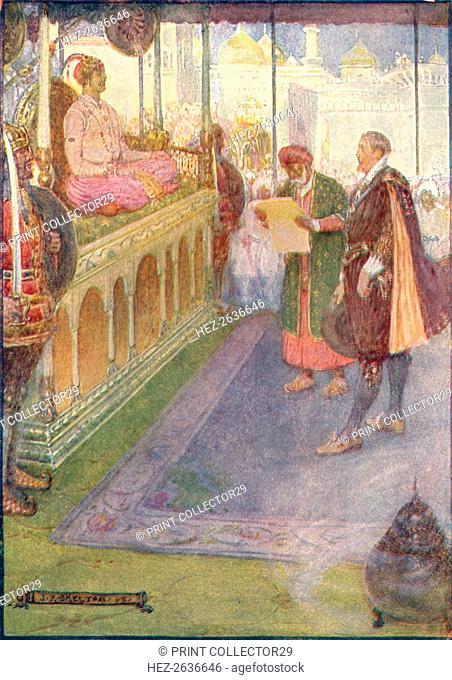 'Sir Thomas Stood Before The Mogul', c1908, (c1920). Artist: Joseph Ratcliffe Skelton