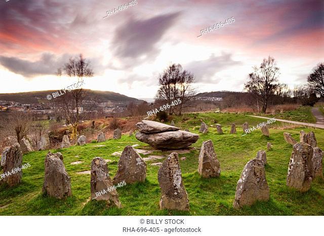 Ancient Gorsedd Stones, Pontypridd, Rhondda, South Wales, Wales, United Kingdom, Europe