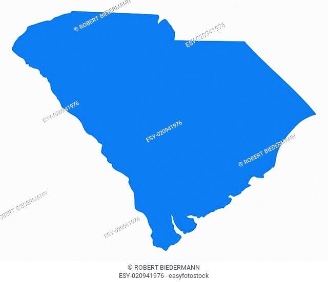Karte von South Carolina