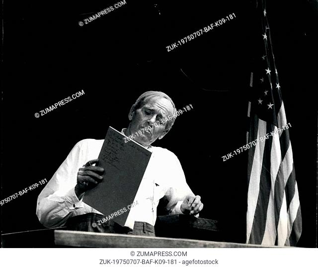 Jul. 07, 1975 - Hollywood actor Henry Fonda to make his West End stage debut in a one-man show: Hollywood veteran actor Henry Fonda is in London to make his...