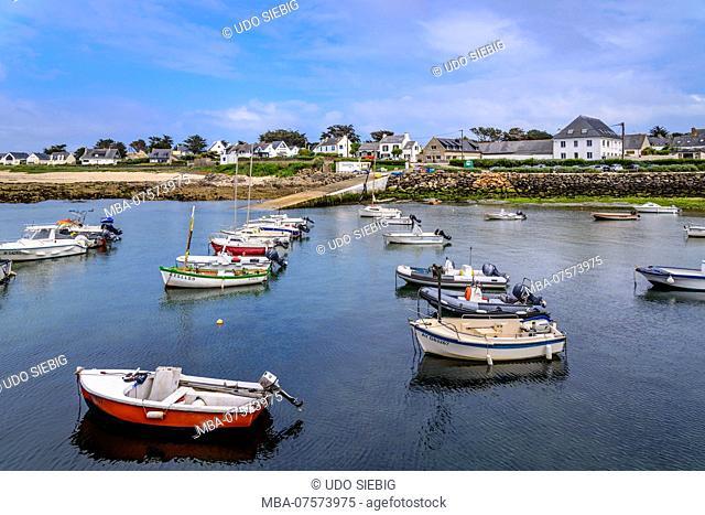 France, Brittany, Morbihan, Quiberon, CÃ'te Sauvage, Portivy, port