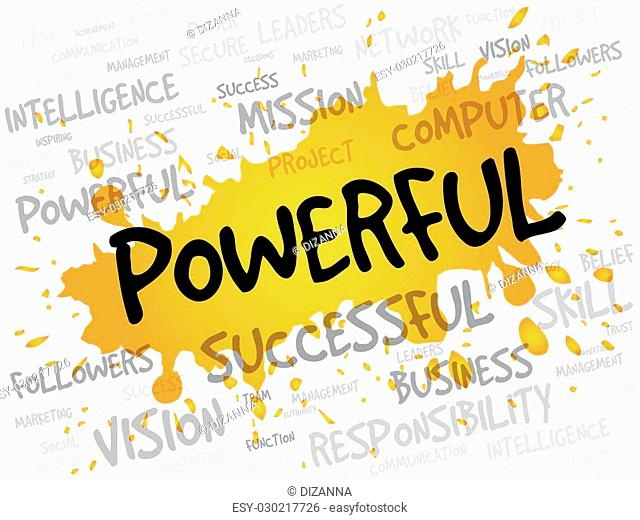 POWERFUL word cloud, business concept