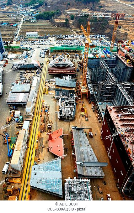 Shipping port, elevated view, GoSeong-gun, South Korea