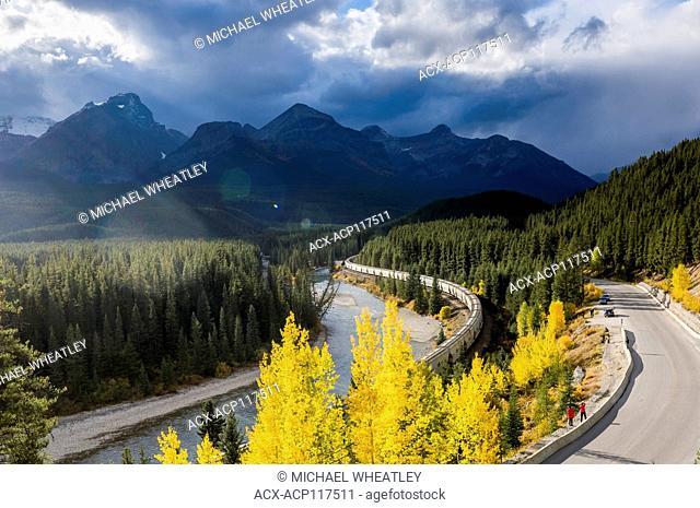 Freight train, Morant's Curve, Banff National Park, Alberta, Canada