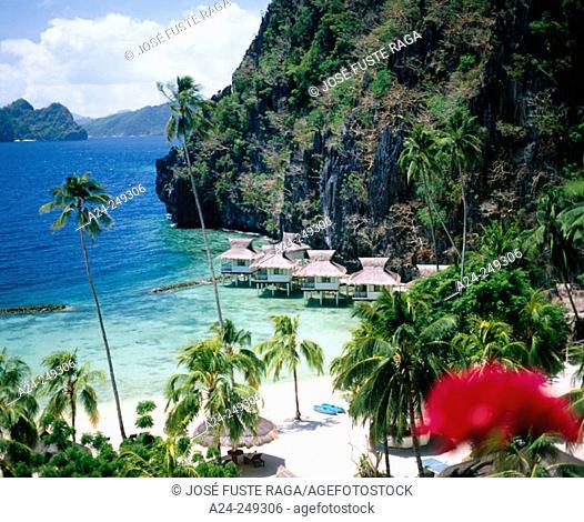 Miniloc Island Resort. El Nido District. Palawan Island. Visayas Island. Philippines