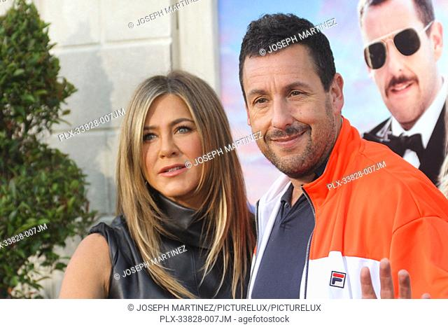 "Jennifer Aniston, Adam Sandler at Netflix's """"Murder Mystery"""" Premiere held at the Regency Village Theater, Los Angeles, CA, June 10, 2019"