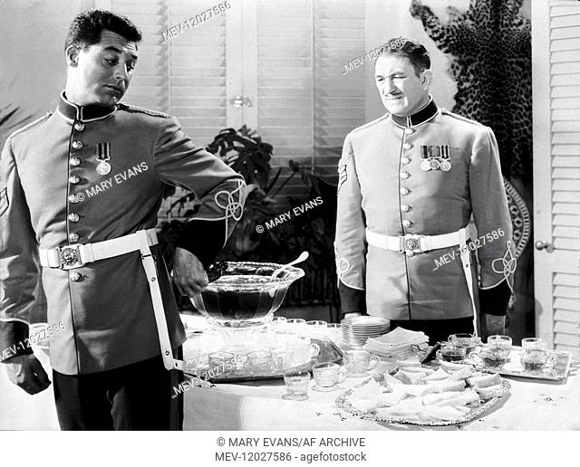 Cary Grant & Victor Mclaglen Characters: Cutter, MacChesney Film: Gunga Din (1939) Director: George Stevens 24 January 1939