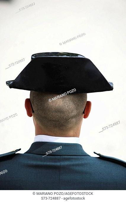 Guardia Civil, tricornio (three-cornered hat). Spain
