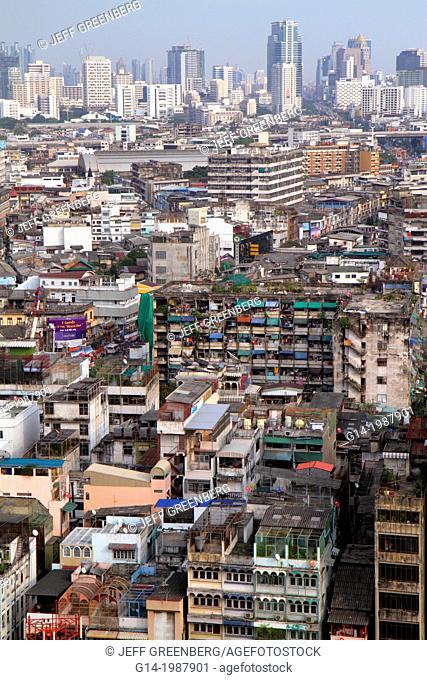 Thailand, Bangkok, Samphanthawong, Chinatown, aerial, view, buildings, urban, city skyline