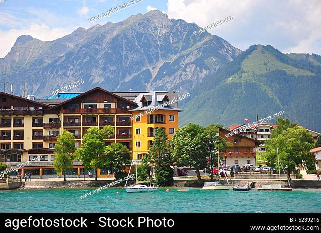 Hotel, Achensee, lakeside promenade, Pertisau, Tyrol, Austria, Europe